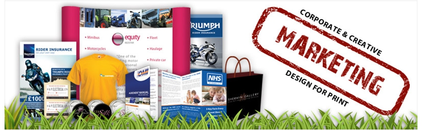 Professional marketing design and print including, leaflets, flyers, brochures, clothing, exhibition stands, poster design and more. Please click here for full details.