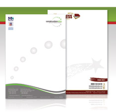 Corporate and creative letterhead design service from our creative team of essex designers.