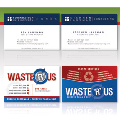 Corporate and creative business card design services from our creative team of essex designers.